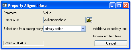 Jim Pendleton: a properly aligned widget base